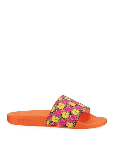 Pursuit Strawberry Slide Sandals, Kids