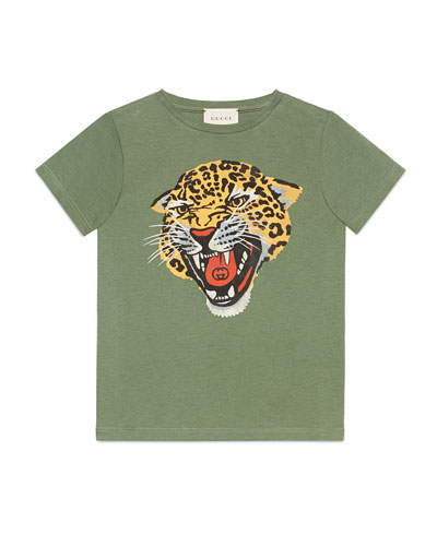 Tiger Head Graphic Tee  Size 4-10
