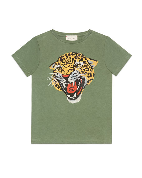 813bb5d35 Gucci Tiger Head Graphic Tee, Size 4-10