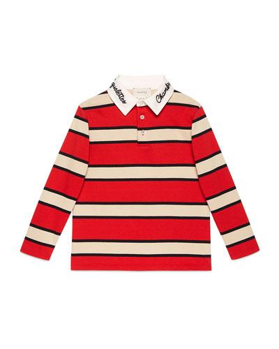 Macro Stripe Collared Shirt  Size 4-10