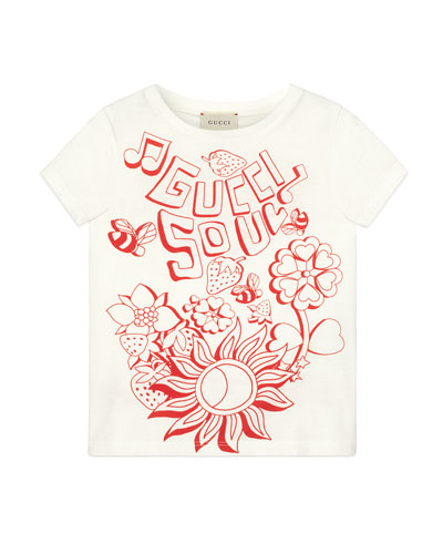 Gucci Soul & Love Short-Sleeve T-Shirt  Size 4-10