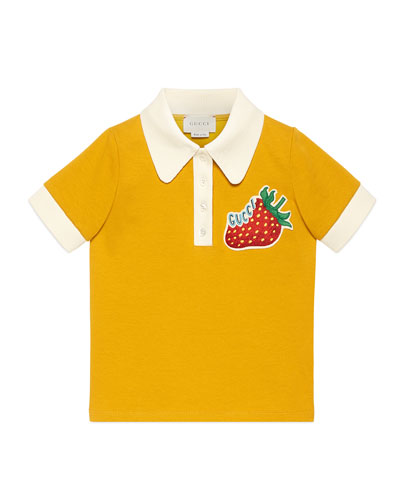 Logo Strawberry Patch Polo Shirt  Size 4-12