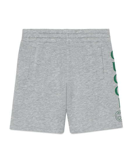 Gucci Logo Athletic Shorts, Size 4-10