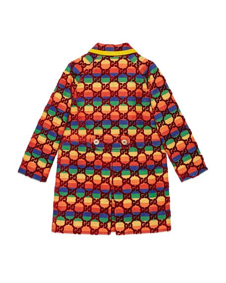 Rainbow Velvet GG Supreme Coat, Size 4-12