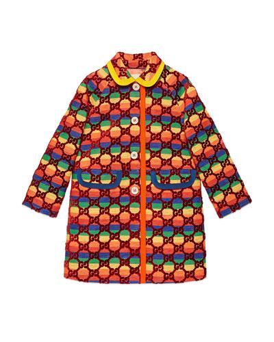 Rainbow Velvet GG Supreme Coat  Size 4-12