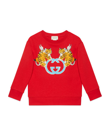 Double Tiger GG Sweater, Size 4-10