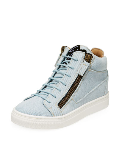 Denim Mid-Top Sneakers, Toddler/Kids