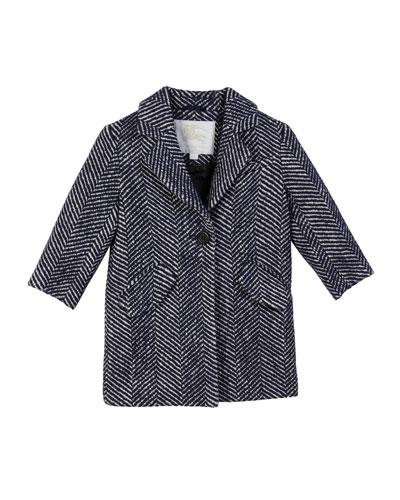 Camelia Herringbone Coat  Size 3-14