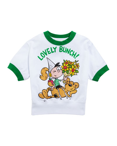 Lovely Bunch Cartoon Graphic Tee  Size 3-14