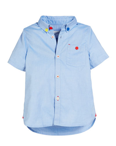 Short-Sleeve Oxford Shirt  Size 3-14