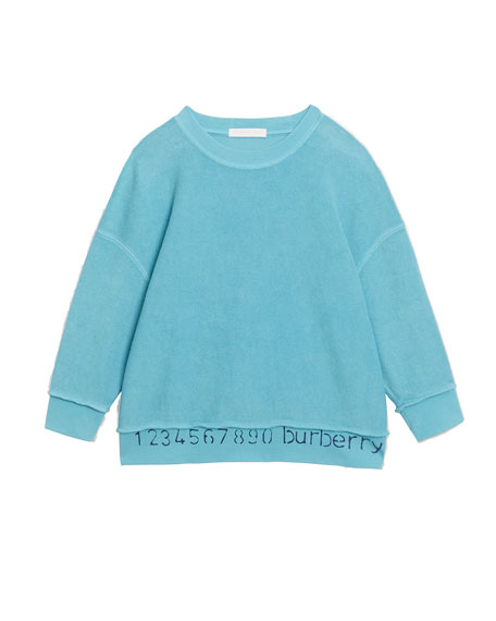 Image 1 of 1: Gerome Logo & Numbers Long-Sleeve Knit Top, Size 3-14