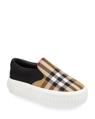 Erwin Check Sneakers  Toddler