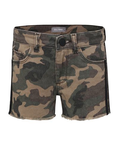 Lucy G Camo Shorts, Size 7-16