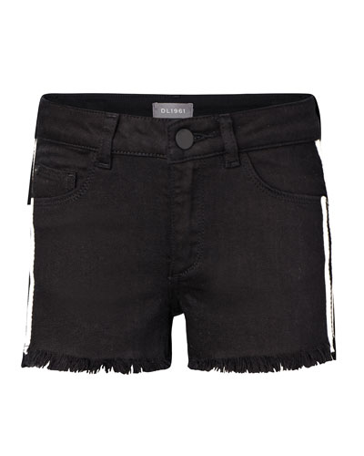 Lucy G Raw-Edge Shorts, Size 7-16