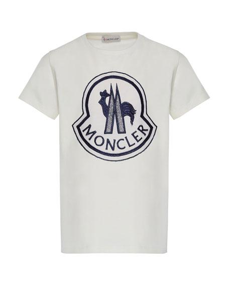 Moncler Short-Sleeve Logo Patch T-Shirt, Size 8-14