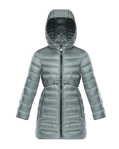 Suva Quilted Ruffle-Trim Hooded Jacket, Size 8-14