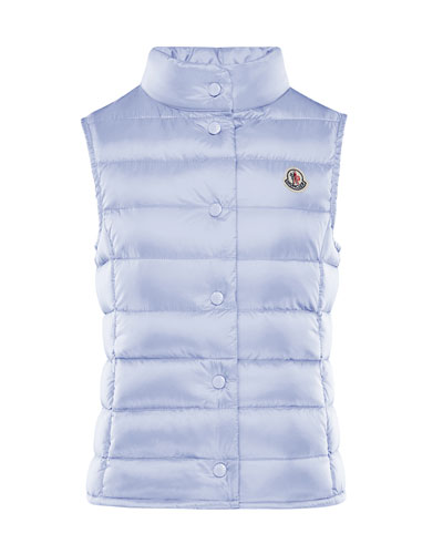 Quilted Snap-Front Vest  Size 8-14