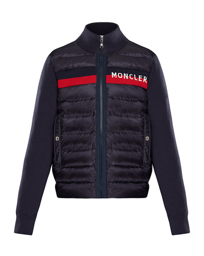 Quilted Zip-Front Jacket w  Knit Trim Size 4-6 Quick Look. Moncler 6b3ca7ed46f