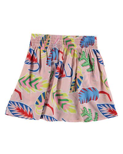 Palm Leaf A-Line Skirt  Size 4-14