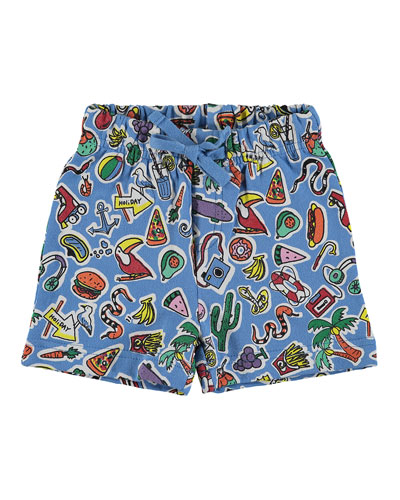 Toy & Food Print Shorts, Size 12-36 Months