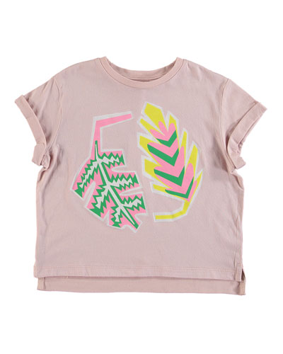 fd6c992f1b Promotion Palm Leaf Rolled-Cuffs Tee Size 4-14 Quick Look. Stella McCartney  Kids