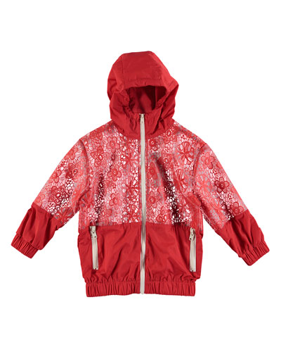 cb09a94cac56 Coated Lace Hooded Rain Jacket Size 4-14 Quick Look. Stella McCartney Kids