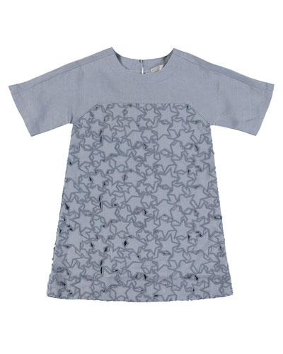 Short-Sleeve Cutout Star Dress  Size 4-14