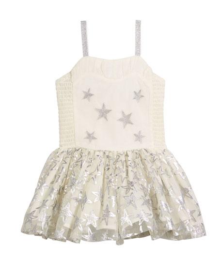 Stella McCartney Kids Metallic Star Dress w/ Detachable