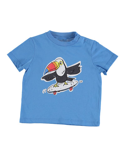 Skateboarding Toucan Graphic Tee  Size 12-36 Months