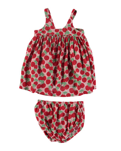 Cherry-Print Sleeveless Dress w/ Bloomers  Size 6-36 Months
