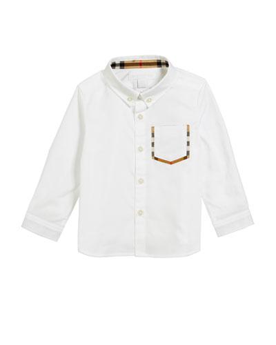 Harry Check-Pocket Sport Shirt  Size 6M-2