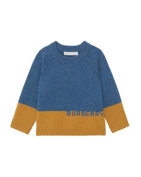 Alister Colorblock Cashmere Sweater, Size 12M-2
