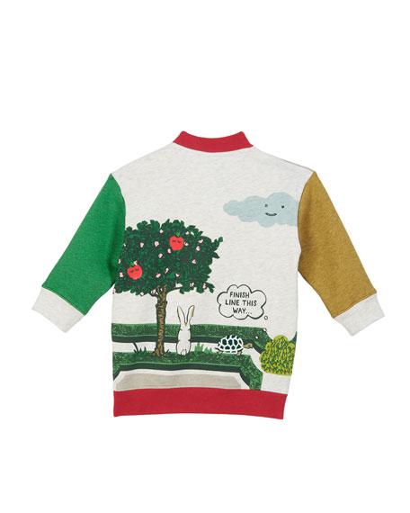 Garden Maze Colorblock Sweatshirt Dress, Size 12M-2