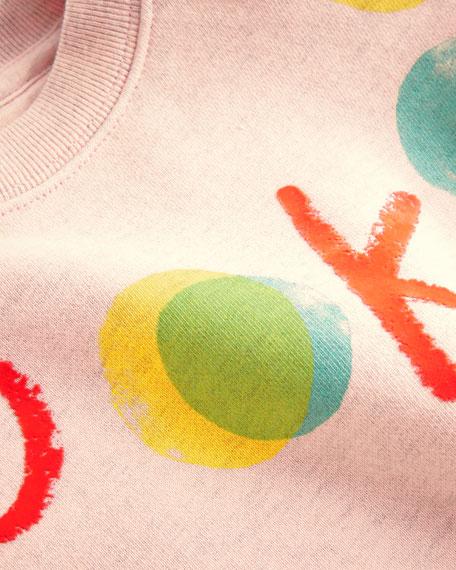 Okay Long-Sleeve Sweatshirt Dress, Size 12M-2