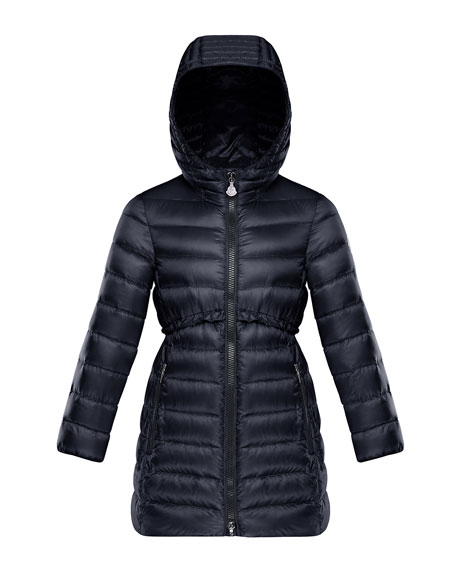 e14156abb92e Moncler Quilted Ruffle-Trim Hooded Jacket
