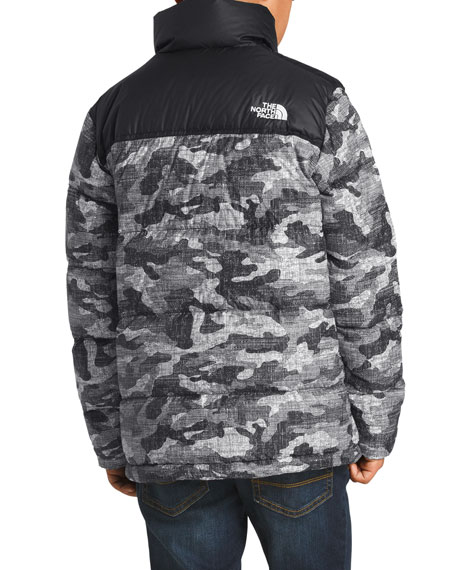 8132efadd3cf3 The North Face Nuptse Camo-Print Quilted Down Jacket, Size XXS-L