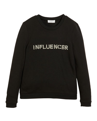 Influencer Pearly Long-Sleeve Top  Size 7-16