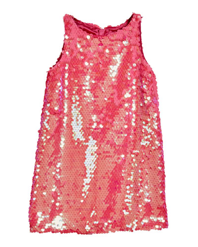 Paillettes Angular Sleeveless Shift Dress  Size 4-6