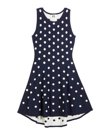Polka-Dot jacquard Knit Dress, Size 4-6