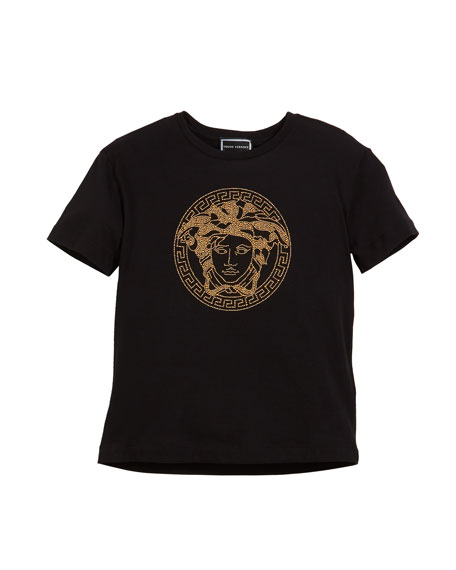 a9161bf2 Versace Short-Sleeve Medusa Head Tee, Size 4-6 and Matching Items