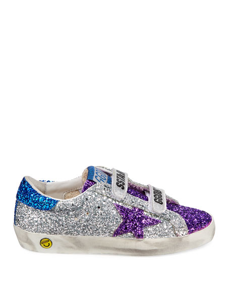 Old School Glitter Sneakers, Kids
