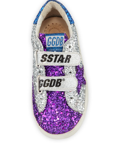 Old School Glitter Sneakers, Baby/Toddler
