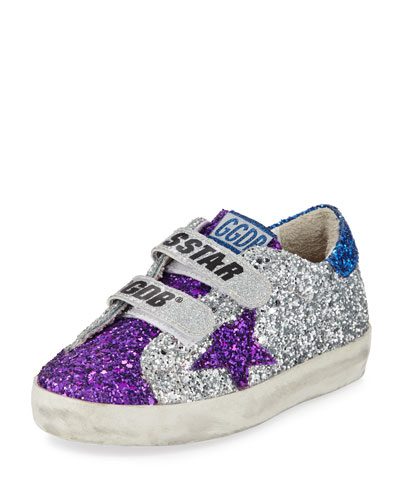 ffa79c14d484 Old School Glitter Sneakers Baby Toddler