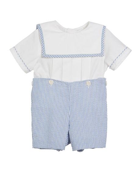 Sailor Top w/ Seersucker Shorts, Size 3-9 Months