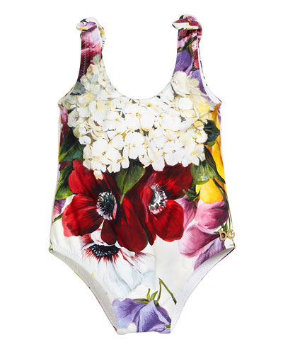 Floral Scoop-Neck One-Piece Swimsuit  Size 6-30 Months