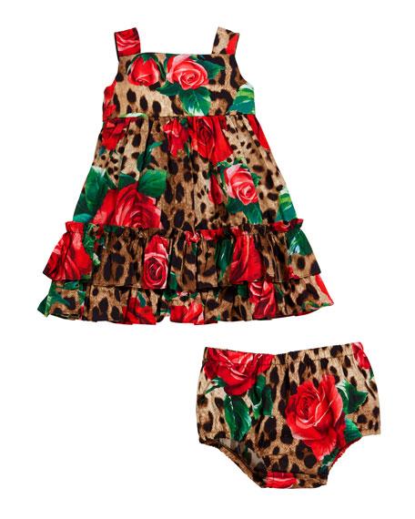Dolce & Gabbana Leopard & Roses Dress w/