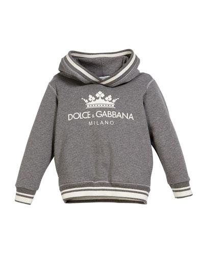 Crown D&G Logo Hoodie, Size 8-12