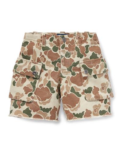 Camo Cargo Shorts  Size 2-4