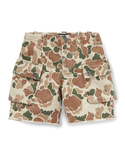Camo Cargo Shorts, Size 5-7