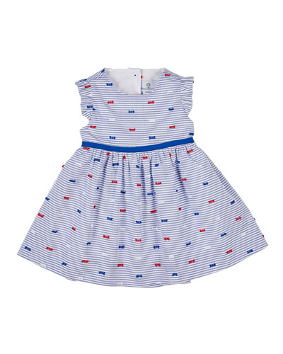 Butterfly Kisses Striped Cutaway-Back Dress  Size 12-24 Months